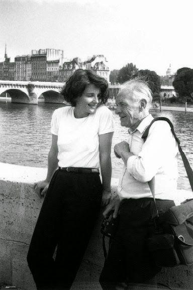 Robert Doisneau and Juliette Binoche in Paris, 1991