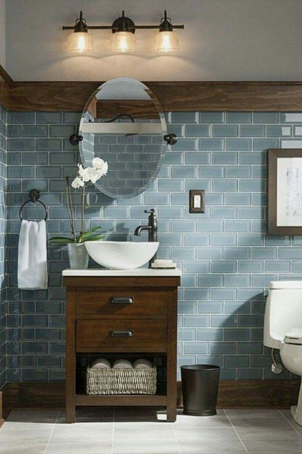50 Creative Rustic Bathroom Lighting Fixture Designs To Update Your Spa In A Home Bathroom Remodel Master Rustic Bathroom Designs Modern Farmhouse Bathroom