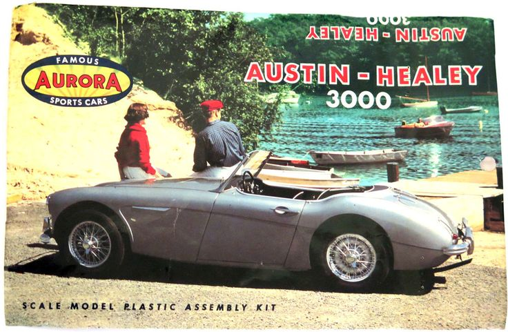 Rare Vintage Aurora Austin Healey Classic Sports Car