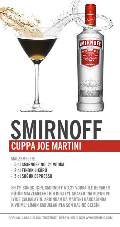 Smirnoff Cuppa Joe Martini