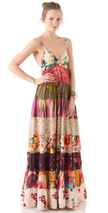 Dallin chase Dani Patchwork Print Dress in Multicolor (multi) | Lyst