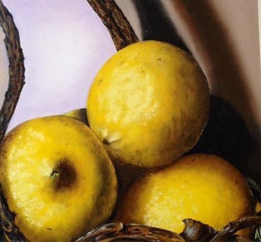 Limoni, olio su tela