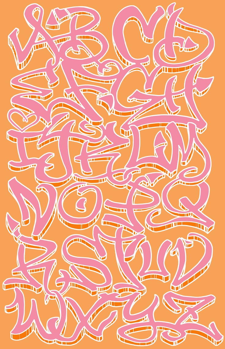 214 best lettering images on Pinterest | Graffiti alphabet ...