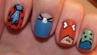 Flintstones.: Polish Art, Art Addiction, Things Nails, Nails Art, Flintstone Nails, Polish Nails, Book, Nails Polish, Flinston Nails