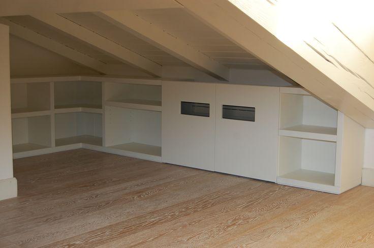 made to measure furniture with air conditioning machine. mobile contenitore per mansarda con  copertura condizionatore.