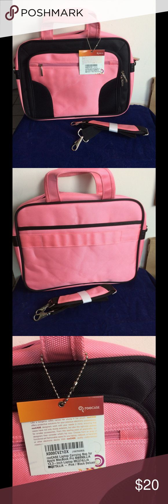 """RooCase Laptop Carrying Bag for Tablet or Laptop RooCase Laptop Carrying Bag for Apple Macabook Pro 13.3"""" Laptop Pink/Black Deluxe.  New with tags. rooCASE Bags Laptop Bags"""
