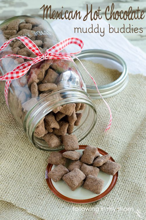 Easy Spicy Hot Chocolate Chex Mix - ready in 15 minutes --- these things are ADDICTIVE!