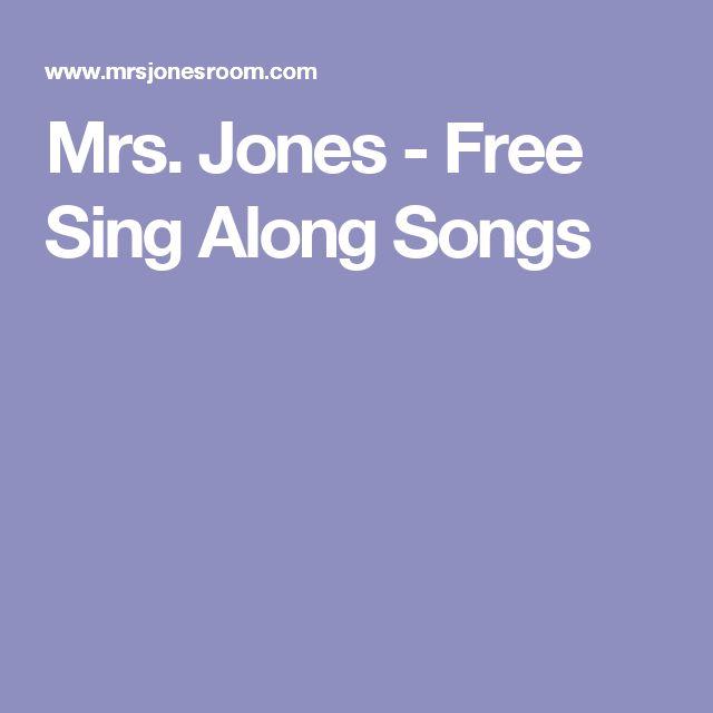 Mrs. Jones - Free Sing Along Songs