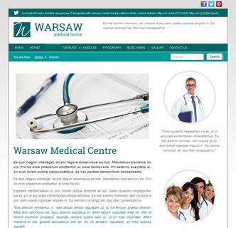 Warsaw Medical, a fast loading responsive Joomla template that is packed with options and easy to use features just released. This Joomla template is perfect for a medical centre or doctors clinic. Checkout the various homepage options by viewing this template demo.