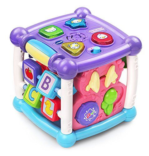 Exploration and fun is around every corner with the Busy Learner's Activity CubeTM by VTech®. Featuring five sides to explore this play cube attracts your baby's attention and encourages imaginative...