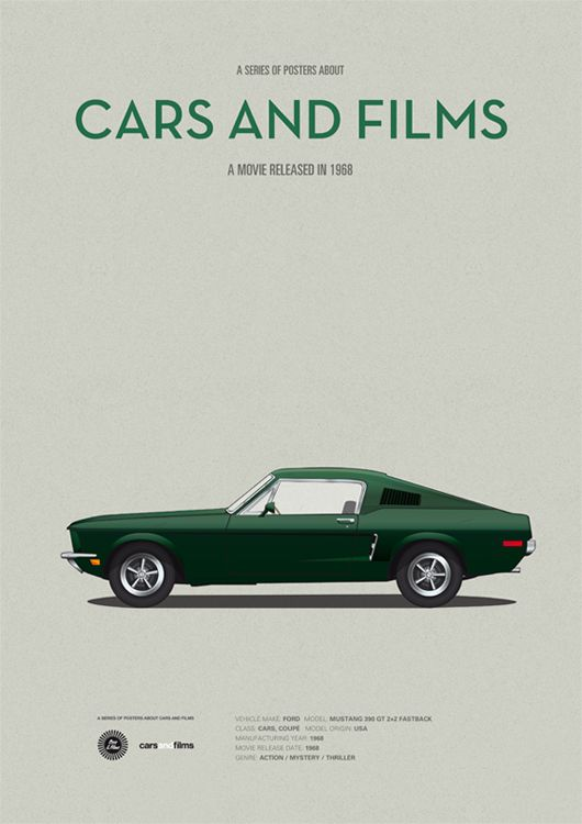 A Series of Posters About Cars and Film (another Steve McQueen movie for good measure) http://www.carsandfilms.com/