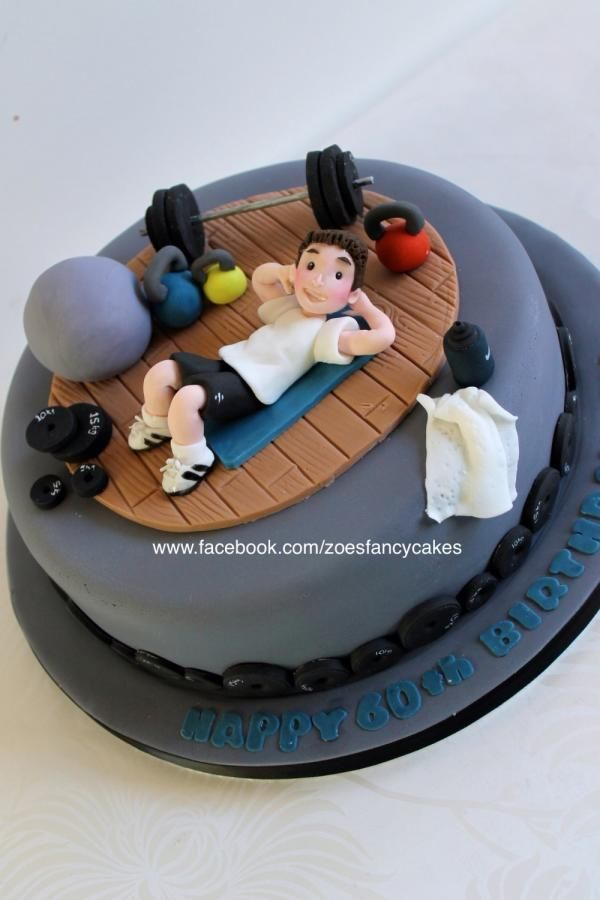 Gym cake - Cake by Zoe's Fancy Cakes. more at https://www.facebook.com/zoesfancycakes