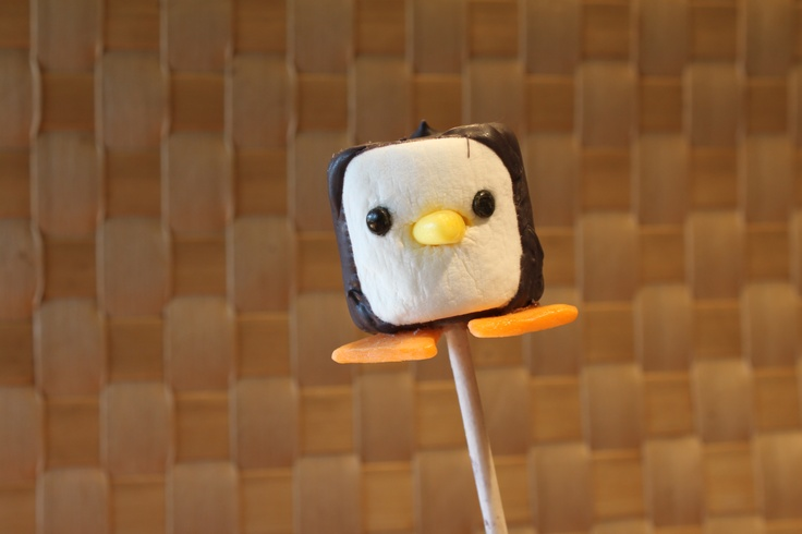 Marshmallow Penguin Cupcake Toppers -