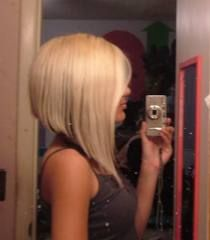 Someday I'll cut my hair like this. Long A-line hair cut.
