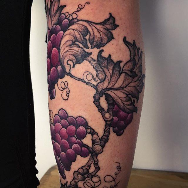 grapevine detail in progress