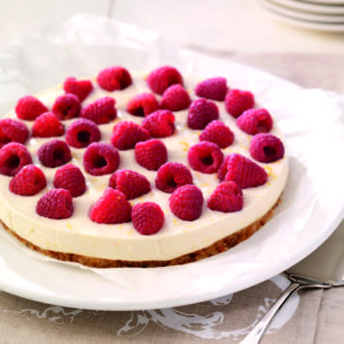 Yoghurt frambozen taart