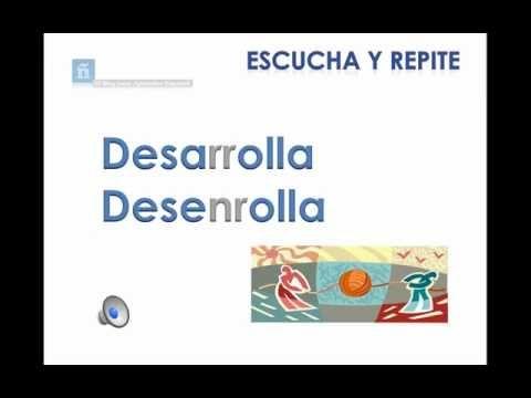 ▶PRONUNCIAR : Letra R. Fonemas /r/, /rr/ - YouTube