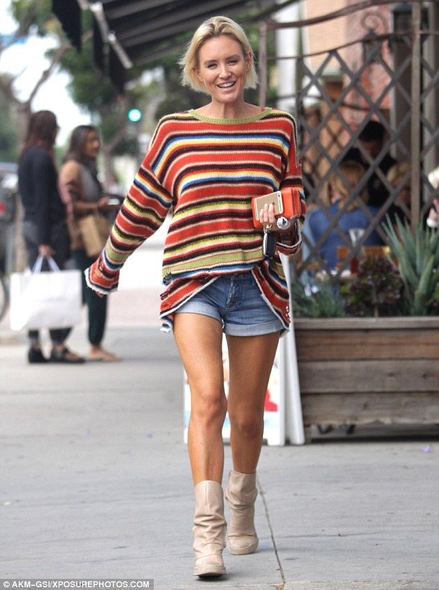 Leggy lady! Nicky Whelan cut a relaxed figure as she stepped out to run a few errands in S...