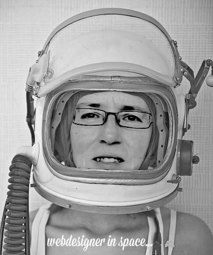 Webdesigner in space...