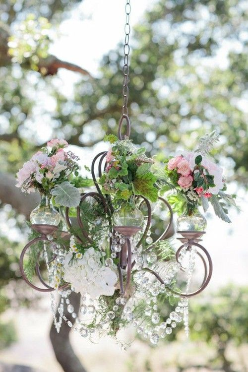 Shabby Chic ♥ floral chandelier