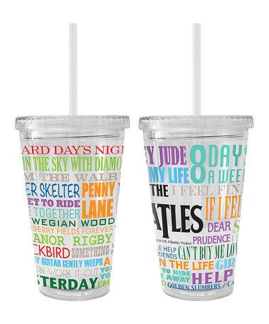 This The Beatles Hits 16-Oz. Tumbler is perfect! #zulilyfinds