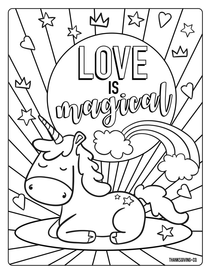 nice unicorn valentine coloring page that you must know