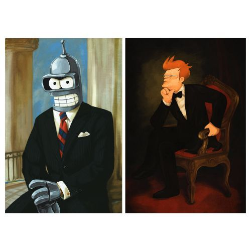 (affiliate link) FOR THE HOME :: Bender and Fry Presidential Poster Set - Shut Up And Take My Money Store!