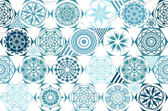 vector seamless patterns. tiling by Rommeo79 on @creativemarket