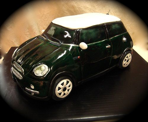 mini cooper racing green | by debbiedoescakes