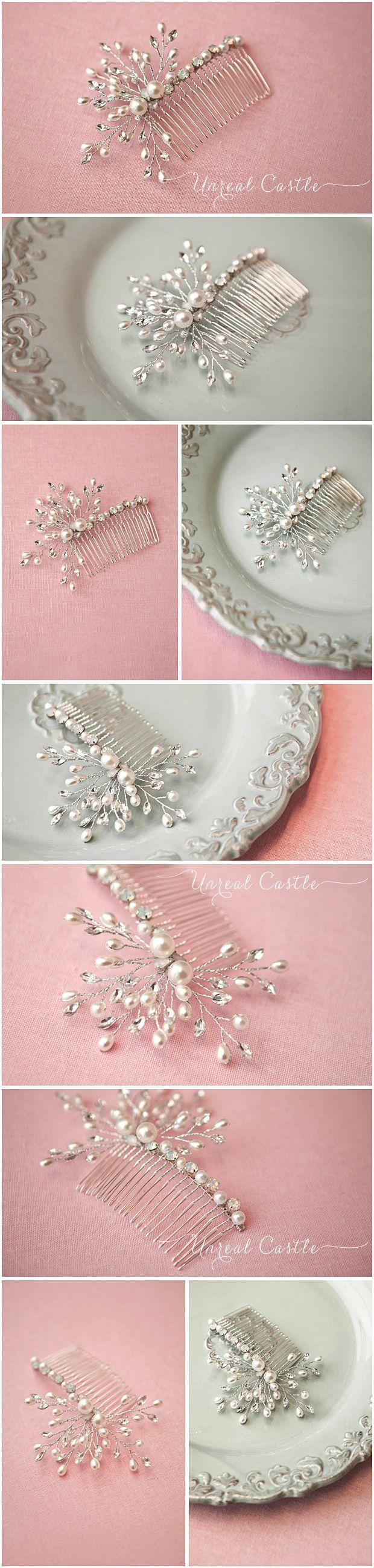 UnrealCastle полностью медные эмбрион гребень ручной работы на заказ жемчуг кристалл гребень Continental Боб - Taobao