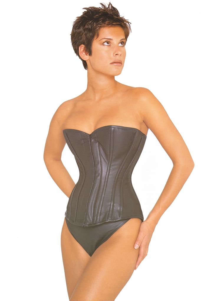 "Vollers ""Eye Candy/ 1905"" Corset in Black Leather  http://www.vollers-corsets.com/leather-corsets/eye-candy.html"
