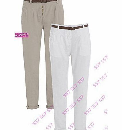 SS7 Womens Linen Cigarette Trousers, Size 8 - 16 (UK - 14, 1 White) No description (Barcode EAN = 3811663734297). http://www.comparestoreprices.co.uk/ladies-formal-wear/ss7-womens-linen-cigarette-trousers-size-8--16-uk--14-1-white-.asp