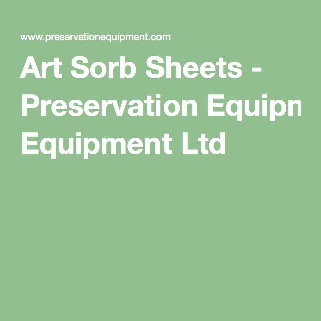 Art Sorb Sheets - Preservation Equipment Ltd