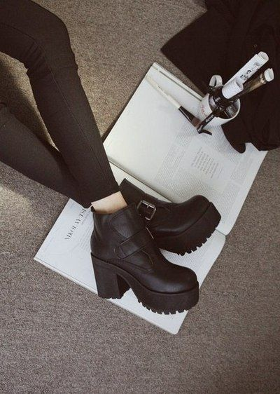 I'm addicted to chunky boots at the moment