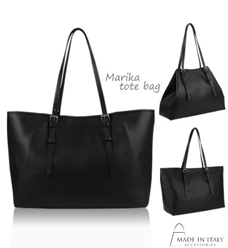 MIA | Marika Collection | Luxe Black Italian Leather Bags for Women | Made in Italy Accessories  https://madeinitalyaccessories.com/marika-leather-tote-bag