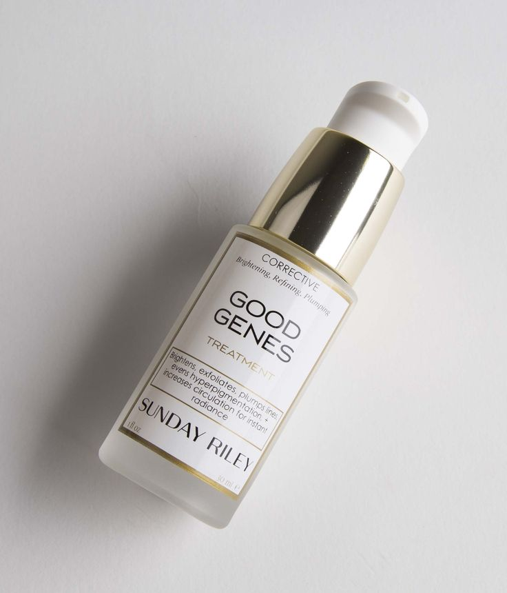 """Sunday Riley: Good Genes Treatment. In the ultimate quest for """"good genes"""", this multi-tasking corrective treatment is a fashion week must-have to brighten, refine and plump the look of skin for an instant runway worthy glow."""