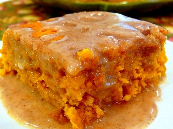 Two-Ingredient Pumpkin Cake with Apple Cider Glaze... Easy !! ... click to View