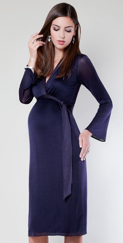 Miko Maternity Dress (Blackberry) by Tiffany Rose