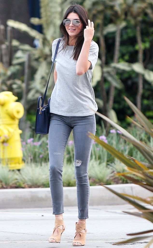 Love what Kendall Jenner is wearing! Dress up your jeans with an awesome pair of heels to get a similar look! Kendall Jenner from The Big Picture: Today's Hot Pics | E! Online
