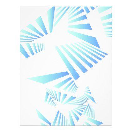 abstract lines design letterhead - cool gift idea unique present special diy