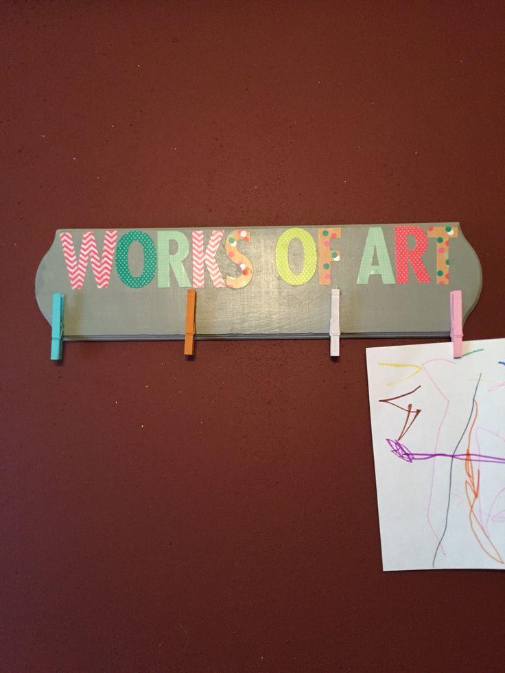 To display children's art!