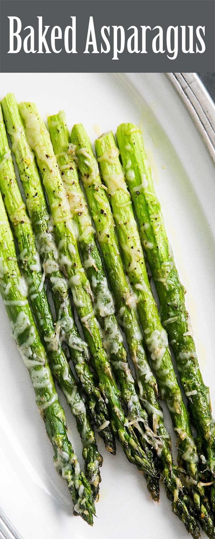 Baked Asparagus With Parmesan ~ So Easy And Elegant! Asparagus Spears,  Trimmed And Sprinkled