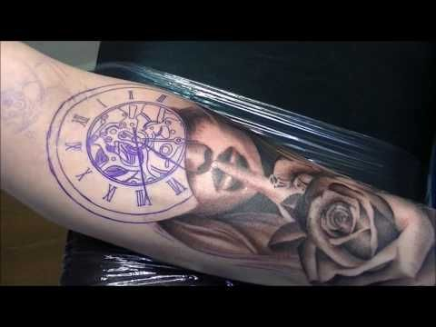 9cc06027965be Silence times - Tattoo (time lapse and real time) - YouTube | Sleeve | Time  tattoos, Tattoo time lapse, Tattoos