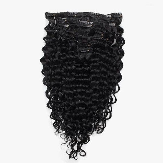 Virgin Brazilian Deep Wave Clip In Hair by JewelheistByAndre