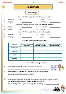 Mathematics : Grade 5: Decimals workbook