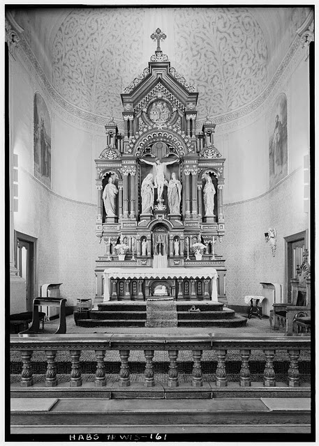 old catholic church in b&w