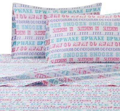 Bed Bath & Beyond Julissa Writing Twin XL Sheet Set