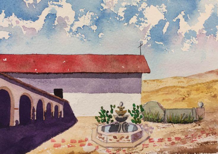 San Miguel Arcangel Mission postcard