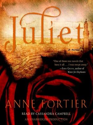 Juliet by Anne Fortier (Audiobook.) wenty-five-year-old Julie Jacobs is heartbroken over the death of her beloved aunt Rose. But the shock goes even deeper when she learns that the woman who has been like a mother to her has left her entire estate to Julie's twin sister. The only thing Julie receives is a key--one carried by her mother on the day she herself died--to a safety-deposit box in Siena, Italy.