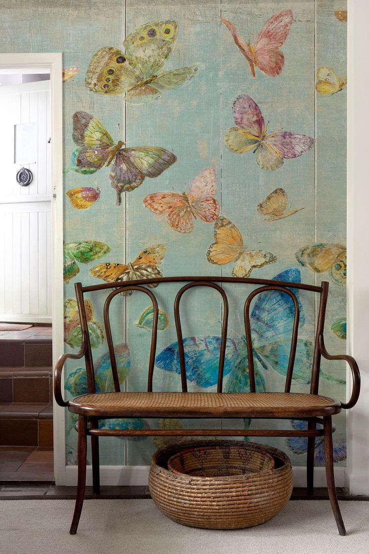 butterfly wallpaper.  Like this look? www.CooperHomesInc.com can do this for you if you are in the Metro-Atlanta area!